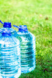 Water bottle plastic water bottle on grass Stock Photography