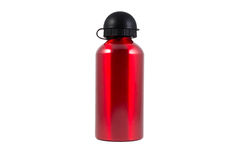 Water Bottle. Red water Bottle for Bicycle Stock Photography