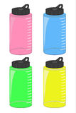 Water bottle set, vector file (EPS) Royalty Free Stock Photography