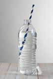 Water Bottle With Straw Royalty Free Stock Photo