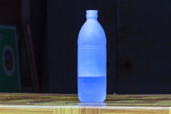 Water Bottle on table Royalty Free Stock Images