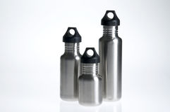 Water bottle trio Royalty Free Stock Photos