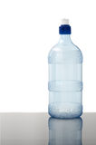 Water bottle on white. A blank empty water bottle on a white background Royalty Free Stock Photos