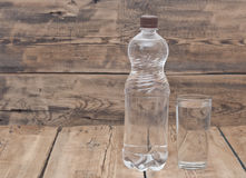 Water Bottle With Glass Royalty Free Stock Image