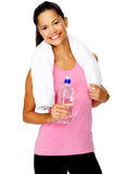 Water bottle woman Stock Photos
