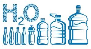 Water bottles stock illustration