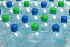 Water in bottles Stock Photo