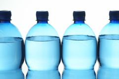 Water bottles. Isolated water bottles Royalty Free Stock Image