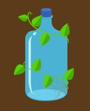 Water bottles bioplastic vector Stock Images