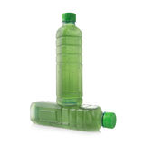 Water bottles chlorophyll isolated on white background Stock Photo
