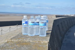 Water bottles found after fun run Royalty Free Stock Photo