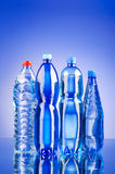 Water bottles - healthy drink concept Stock Photos