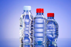 Water bottles - healthy drink concept Stock Images