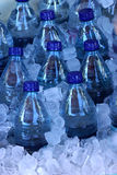 Water bottles in ice Stock Photo
