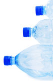 Water bottles isolated. On the white background Stock Photo