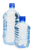 Water bottles isolated over white Stock Image