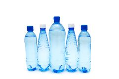 Water bottles isolated  on the white background Stock Photo
