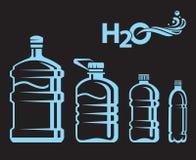 Water bottles set Stock Photo