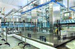 Water bottling plant Stock Photos