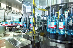 Water bottling plant Stock Image