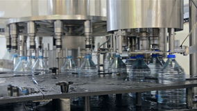 Water bottling plant stock video footage