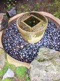 Water bowl design at Japanese garden Stock Photo