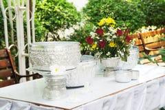 Water bowl prepared for Songkran festival Stock Photography