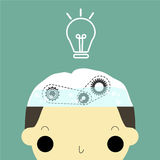 Water for brain. 85% of brain is water that work for create any idea Royalty Free Stock Photos