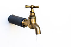 Water brass faucet Royalty Free Stock Photos