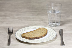 Water and bread Royalty Free Stock Photography