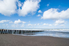 Water breakers on the Dutch Coast Royalty Free Stock Photo