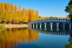 The water and bridge bule sky Stock Photo