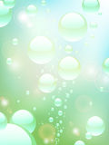 Water bubble background Stock Image