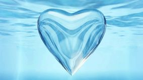 Water bubble. With heart shape royalty free illustration