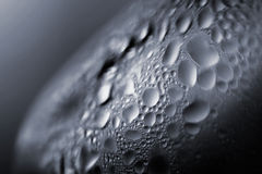 Water Bubbles. On a glass Stock Photography