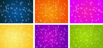 Water bubbles. Illustration of water bubbles on color backgrounds Royalty Free Stock Photos
