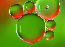 Water bubbles abstract background Stock Images