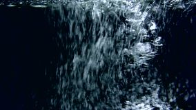 Water bubbles stock video footage