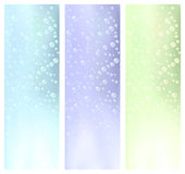 Water bubbles banners Royalty Free Stock Images