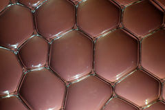 Water bubbles in brown Stock Photos