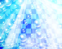 Water bubbles on chessboard Royalty Free Stock Images