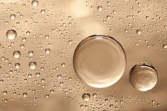 Water bubbles on the glass royalty free stock photo