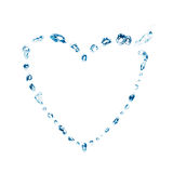 Water bubbles - heart Royalty Free Stock Photos