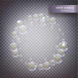 Water bubbles isolated Royalty Free Stock Photo
