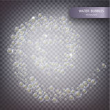Water bubbles isolated Royalty Free Stock Photos