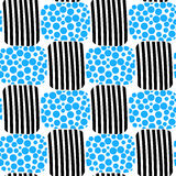 Water bubbles and stripes beach seamless pattern Stock Image