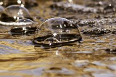 Water bubbles on surface Royalty Free Stock Photography