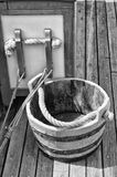 Water Bucket. This is the water bucket used on an old clipper ship Stock Image