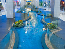 Water building in interior Royalty Free Stock Images