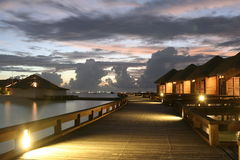Water Bungalow Stock Image